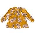 Девушки Блузка Мода для Детей Рубашки Одежда для Девочек С Длинным Рукавом Цветочный Принт Школы Блузки для Девочек Кнопки Топы Поплин 2-10Y