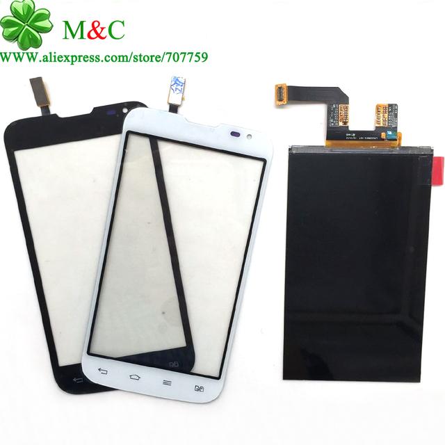 Original panel táctil lcd para lg serie iii l70 d325 d325 pantalla lcd de pantalla táctil digitalizador panel de cristal (doble tarjeta sim) de seguimiento