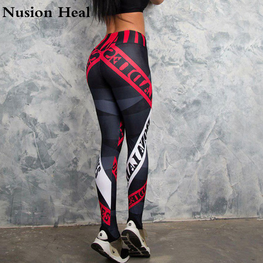 2018 Women Sport Leggings Yoga Pants Black High Waist Elastic Running Fitness Slim Sport Pants Gym Leggings for Women Trousers