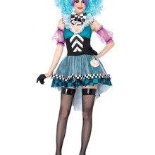 Алиса чудес маниакально Mad Hatter Adult Для женщин Хэллоуин карнавальный костюм