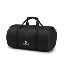 OZUKO Travel Handbags for Men Large Capacity Duffle Bags 2019 Multifunction Male Luggage Bag with Suit Storage Gym Black Bag