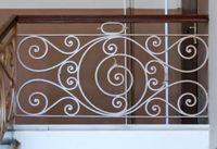 Hench 100% el yapımı dövme özel tasarımlar dış ferforje merdiven korkulukları