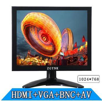 Free shipping 8 inch TFT LED monitor industrial safety HDMI BNC AV VGA LCD monitor computer monitors hd 1024 x768