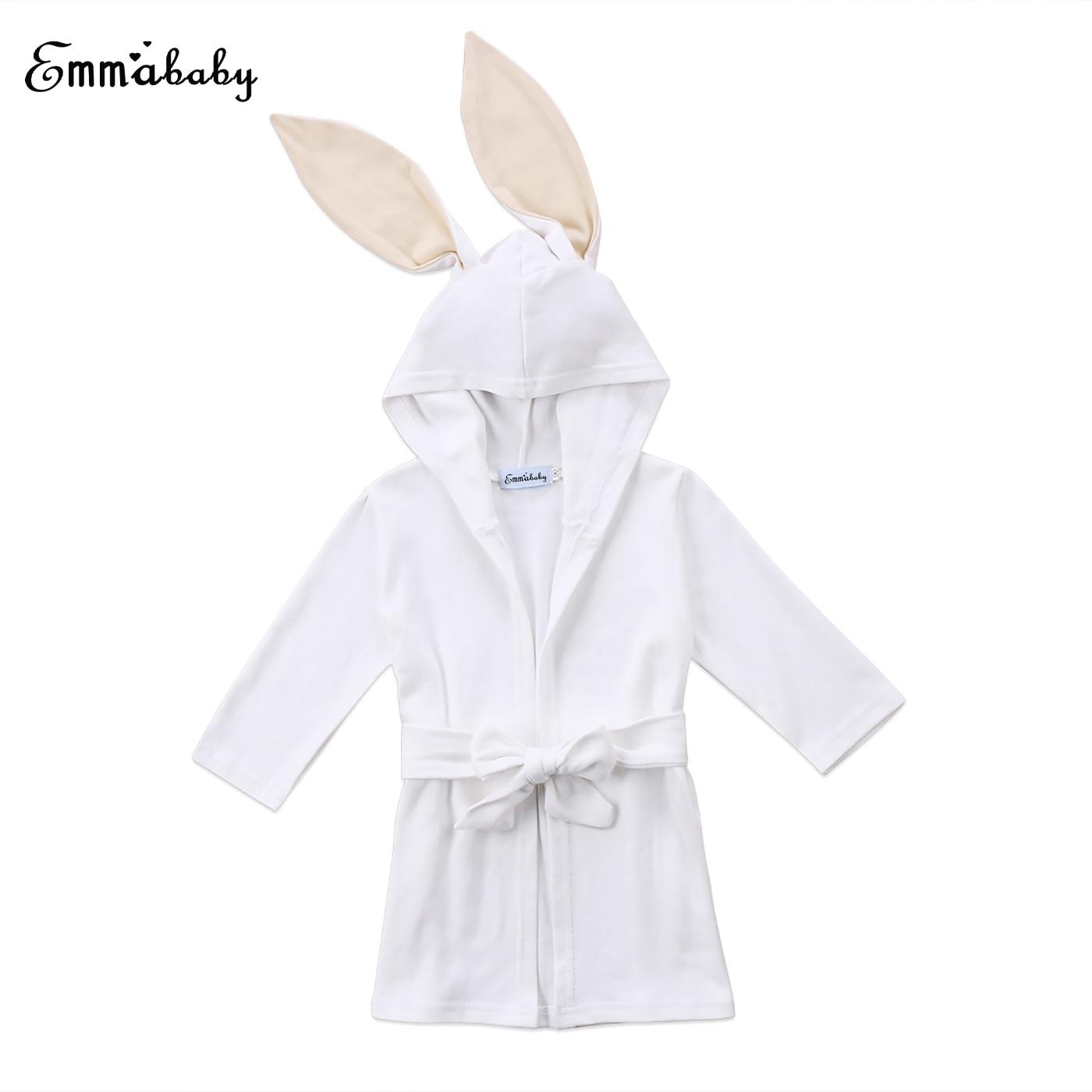 Baby Bademantel Mit Kapuze Handtuch Tier Infant Kinder Mädchen Jungen Kleinkind Hase Alter 1-5 T