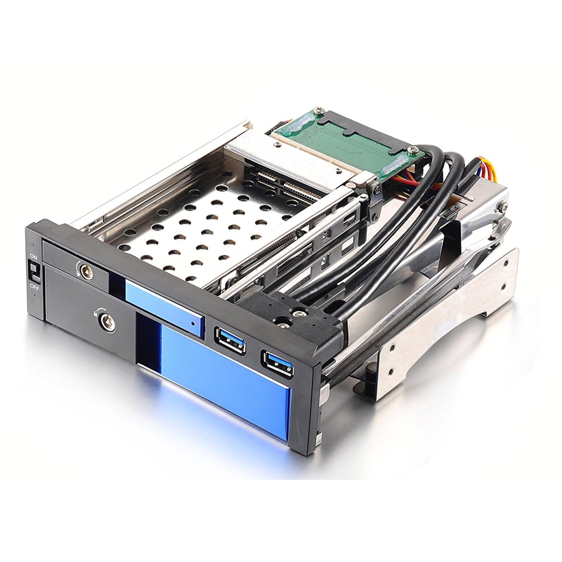 Uneatop 2.5+3.5 dual bay aluminum case SATA hard drive caddy hot swap hdd enclosure with two USB 3.0 port 4 bay 2 5 inch internal sata hdd ssd aluminum mobile rack with hot swap support 7mm 9 5mm 15mm hdd ssd enclosure with lock