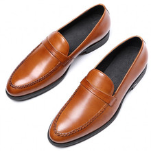 Large Size Eur 44 Black Brown Stitching Mens Wedding Shoes Genuine Leather Dress Formal Oxfords JS-A0055
