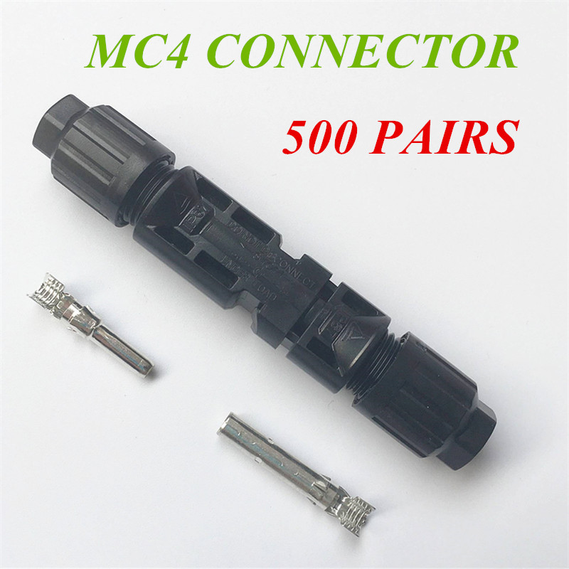500 Pairs 25 years warranty MC4 Male/ Female Solar Panel Cable Connectors Double Seal Rings for Better Waterproof Effect 25 years quality warranty 2pairs tuv ip67 mc4 connector solar cell pv connector free shipping