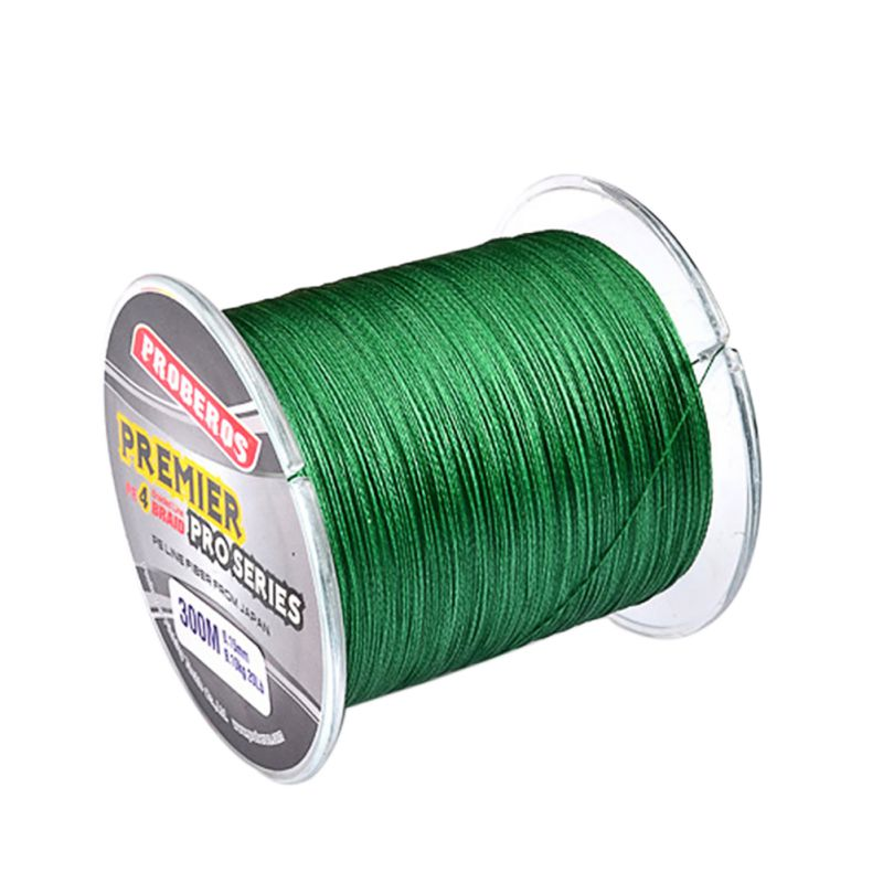 300M PE Multifilament Braided Fishing Line Super Strong Fishing Line Rope 4 Strands Carp Fishing Rope Cord 6LB - 80 Fishing Line