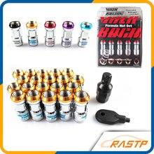 RASTP – 20 Pcs/pack Volk RAYS Racing Formula Nut Set Wheel Lug Nut M12x1.5 or M12x1.25 L=45mm  LS-LN001