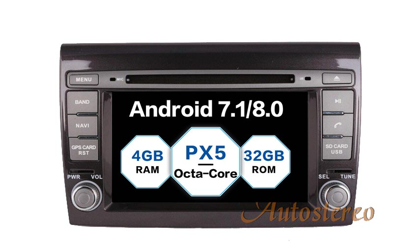 The newest Android 8 0 7 1 Car DVD player GPS navigation autostereo for Fiat Bravo