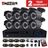 TMEZON HD CVI System 8 Channel 8x 1 0 Megapixel 1 3 CMOS HDCVI 24 Leds