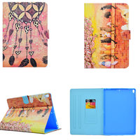 Fashion Cartoon Painted PU Leather Stand Shell Case Cover For Apple New IPad Pro 10 5