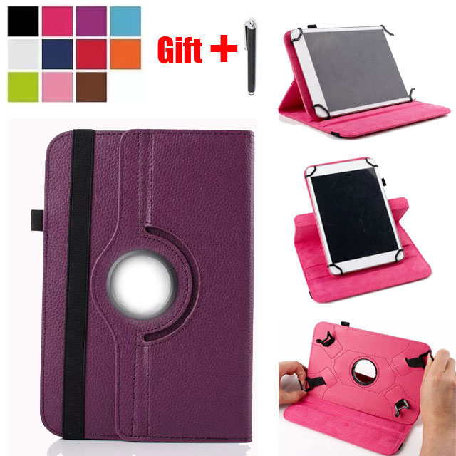 2in1 360 Rotating Universal PU Leather Stand Case Cover For Visual Land Prestige Elite 10QL /10QS 10.1 inch Tablet + Stylus