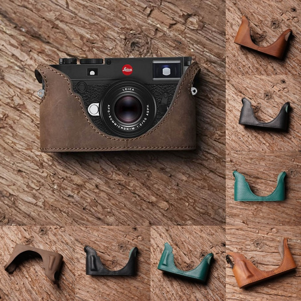 Mr Stone Genuine Leather Camera case Handmade Video Half Bag For Leica M10 Retro Vintage Bottom