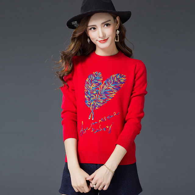 New  Fashion 2017 Women Autumn Winter  Sweater Pullovers Casual Warm Long Sleeve Female Knitted Sweaters Pullover Sweater Lady