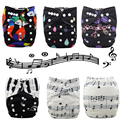 JinoBaby Music Style Cloth Diaper Baby One Size Couche Lavable for NB to 13kgs babies (WITH 1PCS Insert)