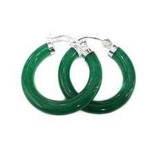 Hermoso Verde Jade Pendiente de Envío gratuito