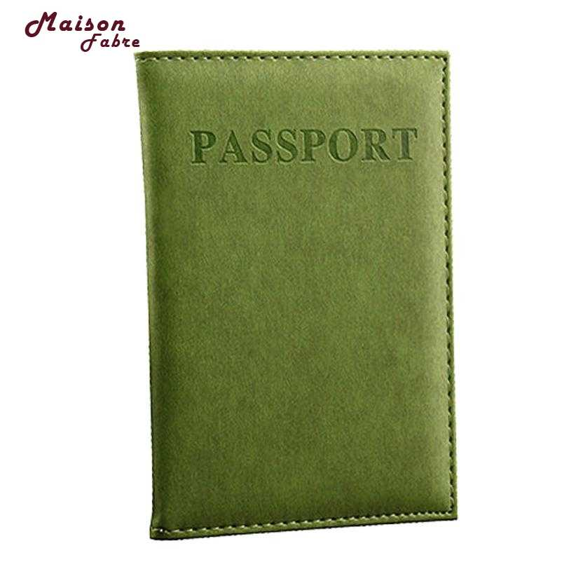 2019 Dedicated แฟชั่น Travel Passport ID Card Holder Protector Dropshipping 2019 Maison Fabre