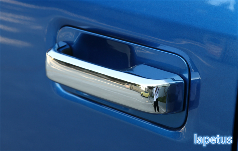 Exterior ! 3 Choice ! For Ford F150 2015 2016 2017 ABS Side Door Doorknob + Handle Bowl Decoration Molding Cover Trim A Set