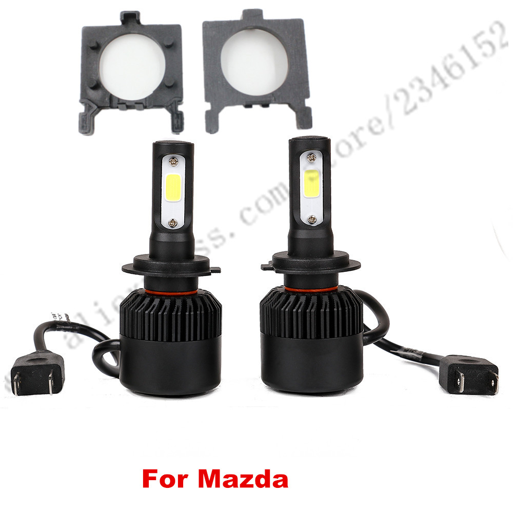 ФОТО H7 led headlight head lamp kit with adapter For Ford Focus fiesta