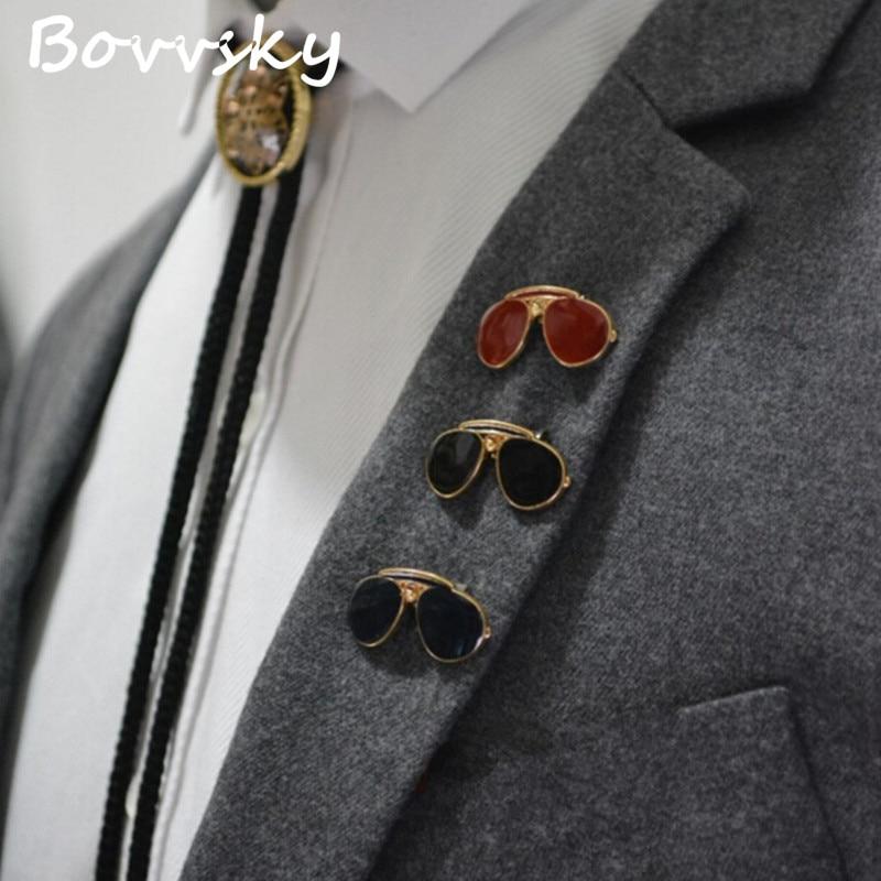 2016 Gold Color Exquisite Mini Sunglasses Men Brooches Pin