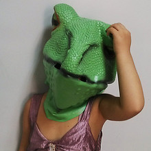 hot selling pretty vivid rubber Halloween cosplay animal latex full head frog mask
