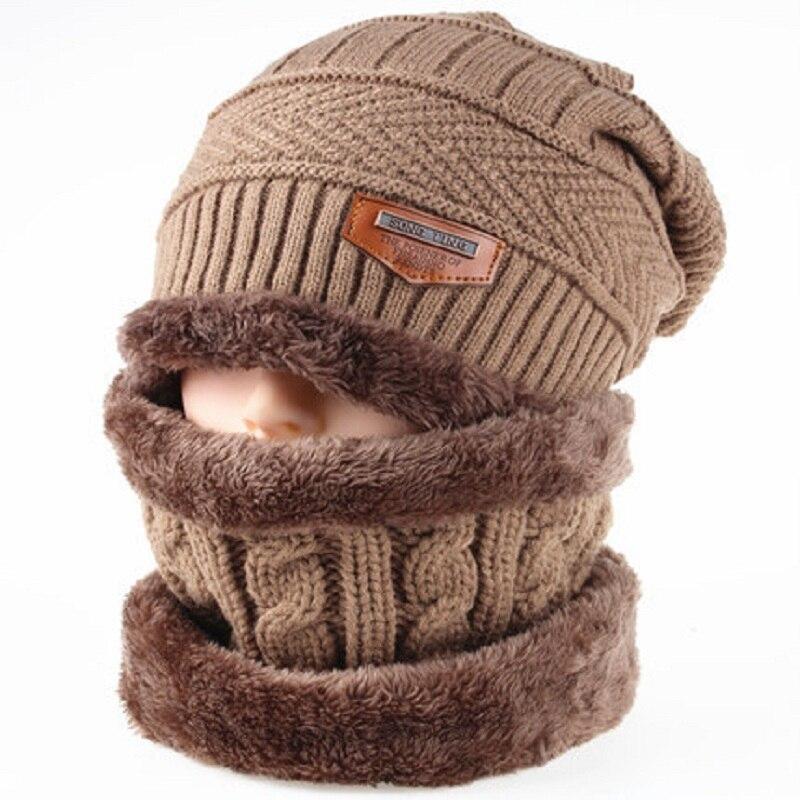 e2aca1beab55a Men Skullies Beanies Caps Winter Balaclava Face Mask Hat Scarf Set Neck  Warmer Thicken Warm Cap Casual Knitted Beanie Wool Hats