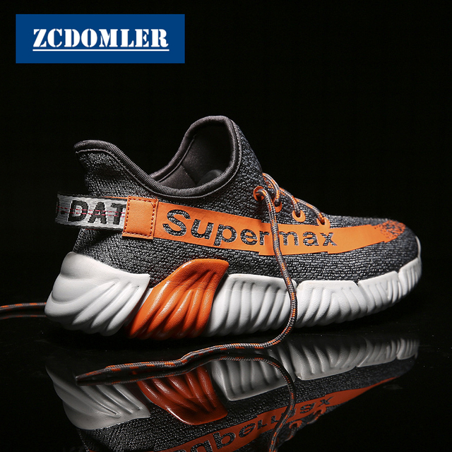 ZCDOMLER 2019 Spring Men's Sneakers Breathable Chaussure Homme Summer Mesh Casual Shoes Mens Trainers Zapatillas Hombre Ayakkabi