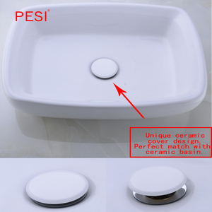 Image 2 - Brass Sink Pop Up Drain stopper Basin Bathroom Lavatory accessories Cap Washbasin plug Chrome With & Without Overflow.
