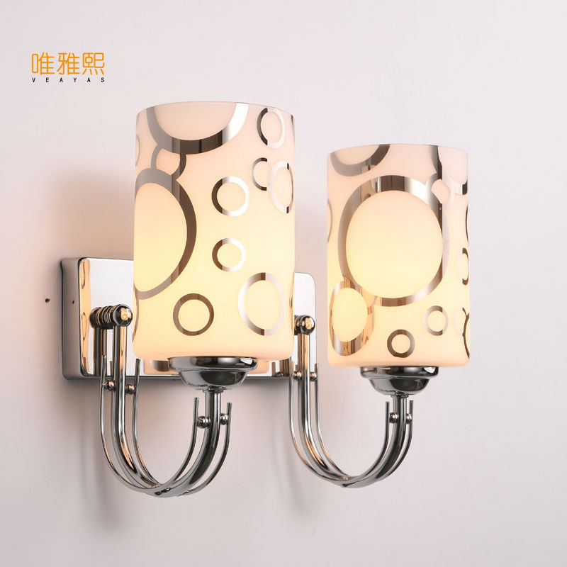 Glass lampshade wall lamp indoor lighting bedside lamps wall lights for home 110V/220V ...