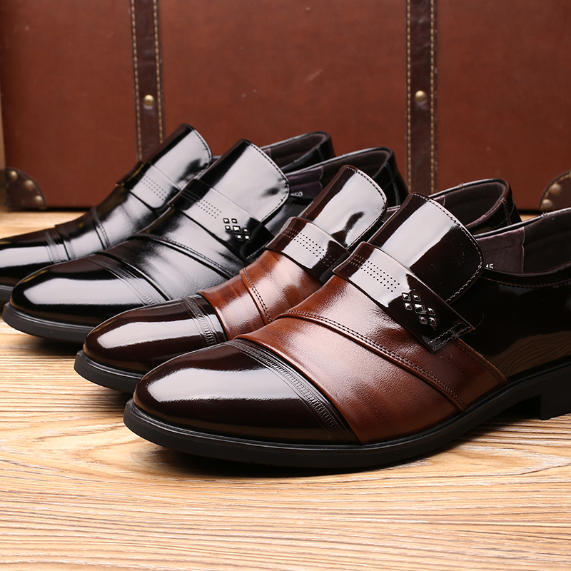 Genuine Leather Dress Shoes Men s Formal Brogue Shoes Man Office Party  Wedding Slip On Vintage Shoes Brown Burgundy Calcados-in Formal Shoes from  Shoes on ... 2d39aa3d150f