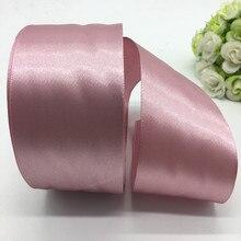 5 jardas/lote 50mm rosa fita de cetim arco artesanato decoração do casamento festa de natal decoração diy artesanato costura suprimentos