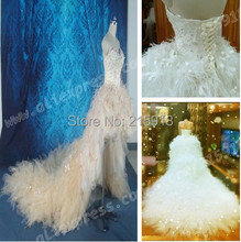 A-mazing Off the Shoulder Sweetheart Wedding Dress Real Pictures Bridal Gown High-Low Dresses to Wear to a Wedding