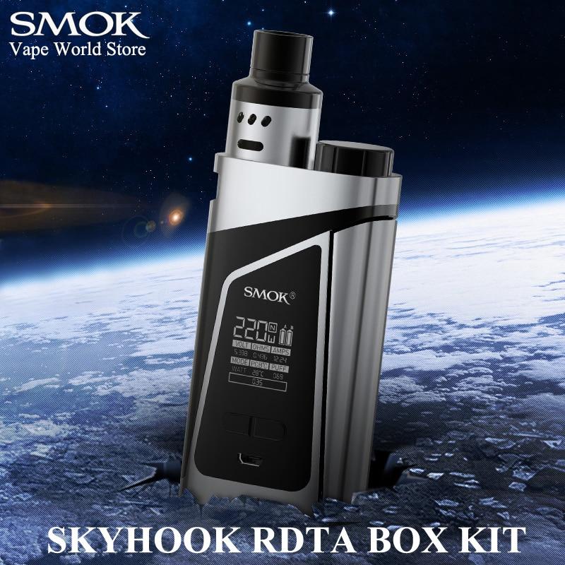 Elektronische Zigarette Kit Vape Box Mod E Zigarette Verdampfer SMOK Alien Skyhook RDTA Kit 220 Watt Mechanische Mod RDTA DIY Tank S020