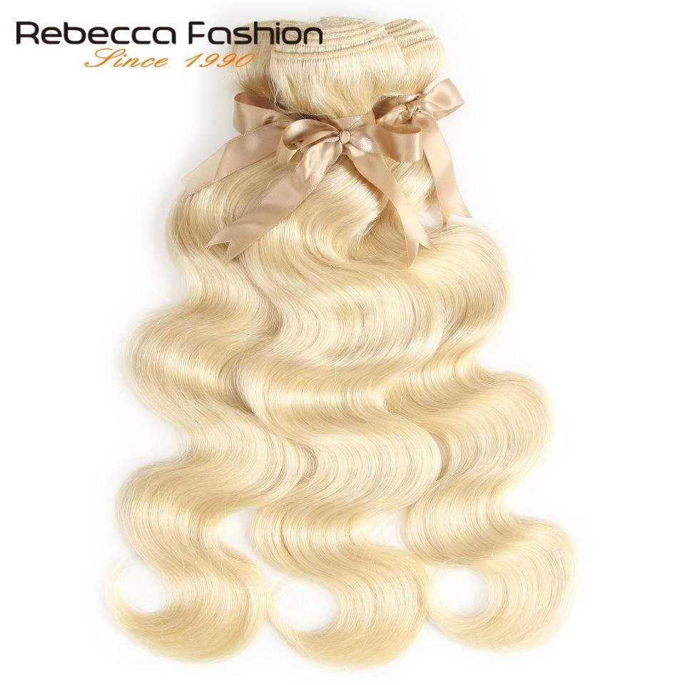 Image 3 - Rebecca 613 Honey Blonde Bundles Body Wave Brazilian Hair Weave Bundles 100% Remy Hair Extensions 1/3/4 Bundles 10 to 26 Inches-in Hair Weaves from Hair Extensions & Wigs