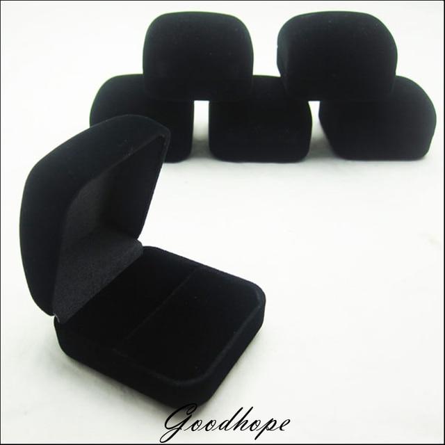 Quality Plush Black Velvet Engagement Wedding Ring Deluxe Gift
