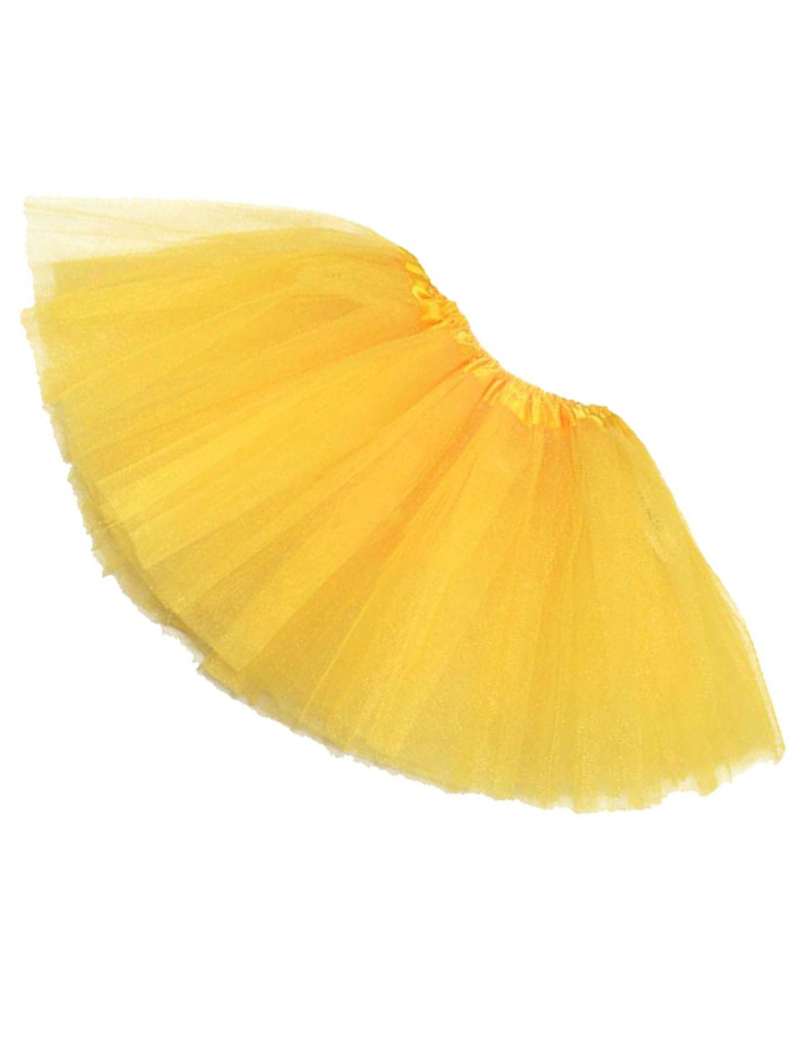 Newest Women/Adult Organza Dance Wear Tutu Ballet Pettiskirt Princess Party Skirt Yellow
