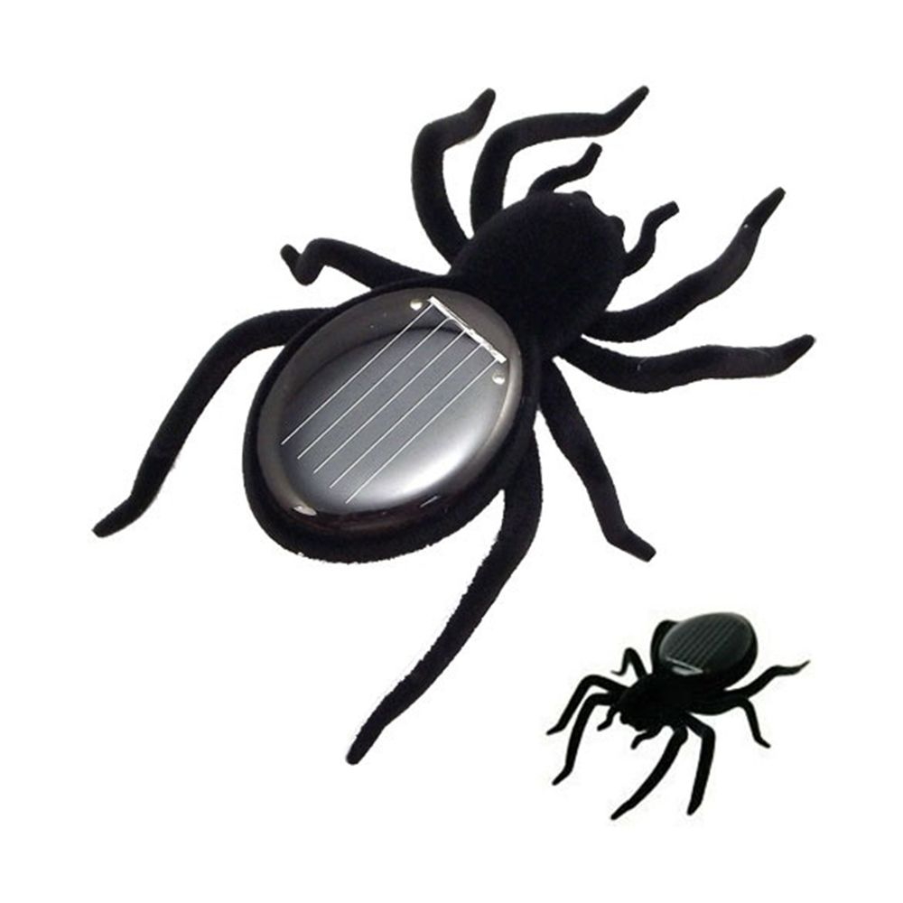 1 pc New Solar Spider Tarantula Educational Robot Scary Insect Gadget Trick Toy Solar Toy solares Kids Toy Robot Toy Hot Sale
