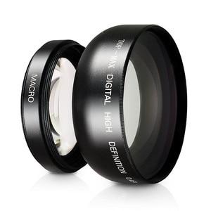 Image 3 - 0.45X Süper Geniş Açı Lens Makro ve Lens hood kiti Sony DSC HX350 DSC HX300 DSC H400 HX350 HX300 H400