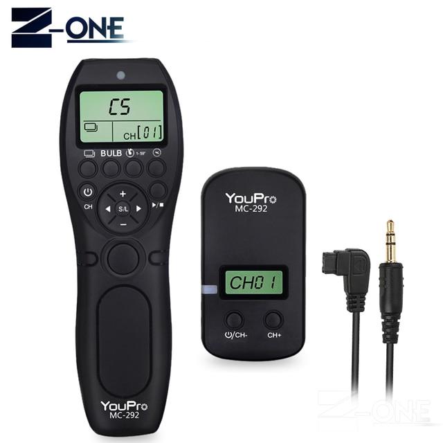 YouPro MC 292 S1 Sem Fio Timer Controle Remoto Obturador para Sony A900 A850 A700 A580 A550 A950 A99 A77 A57 a55 A35 A33