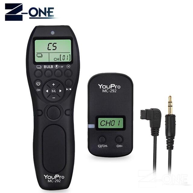 YouPro MC 292 S1 inalámbrico temporizador mando con control remoto de liberación para Sony A900 A850 A700 A580 A550 A950 A99 A77 A57 A55 A35 A33