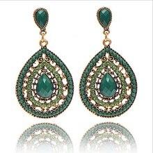 Christmas gifts Female fashion Wedding party Charm jewelry Vintage Bohemian beads heart pendant drop earrings women 2016