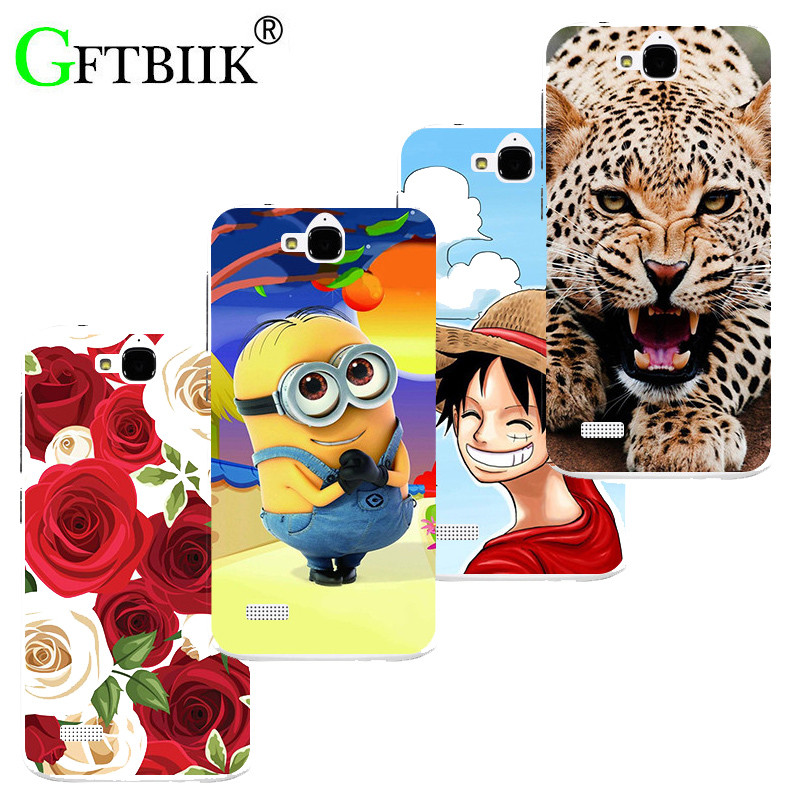 Super Cartoon Pattern Cover For Huawei Honor 3C Lite Play Honor Holly Case Despicable Me 2 Painted Animal Game Shell Coque