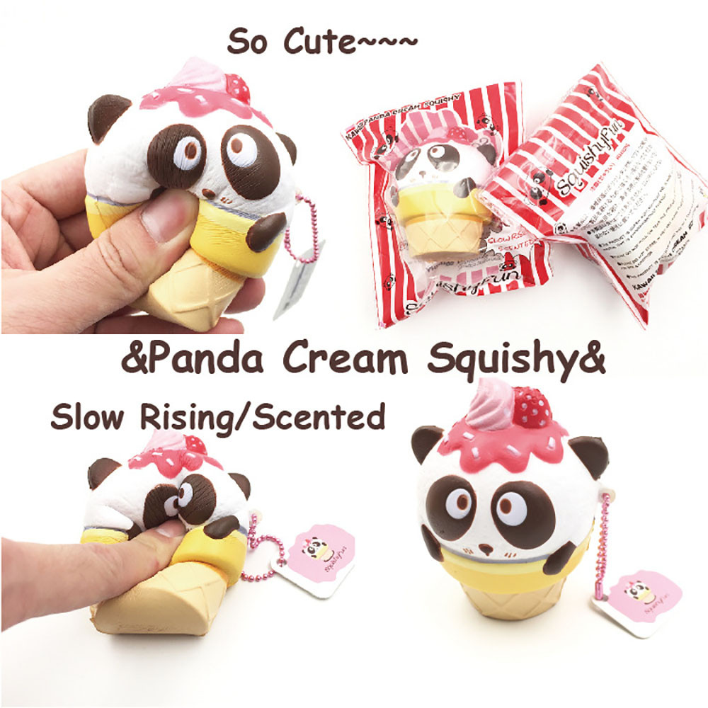 Cute Squishy Mini Small Panda Squeeze Slow Rising Toy Relieve Fun Decor Gift Key Chain For Cell Phone Strap Kid Gifts