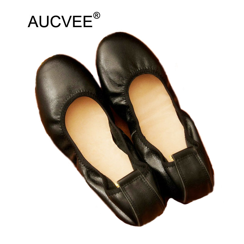 Women Ballet Flats Shoes 100% Genuine Leather Slip on Ladies Cute Casual Shoes  Black Gold 8de7b6fc5e0