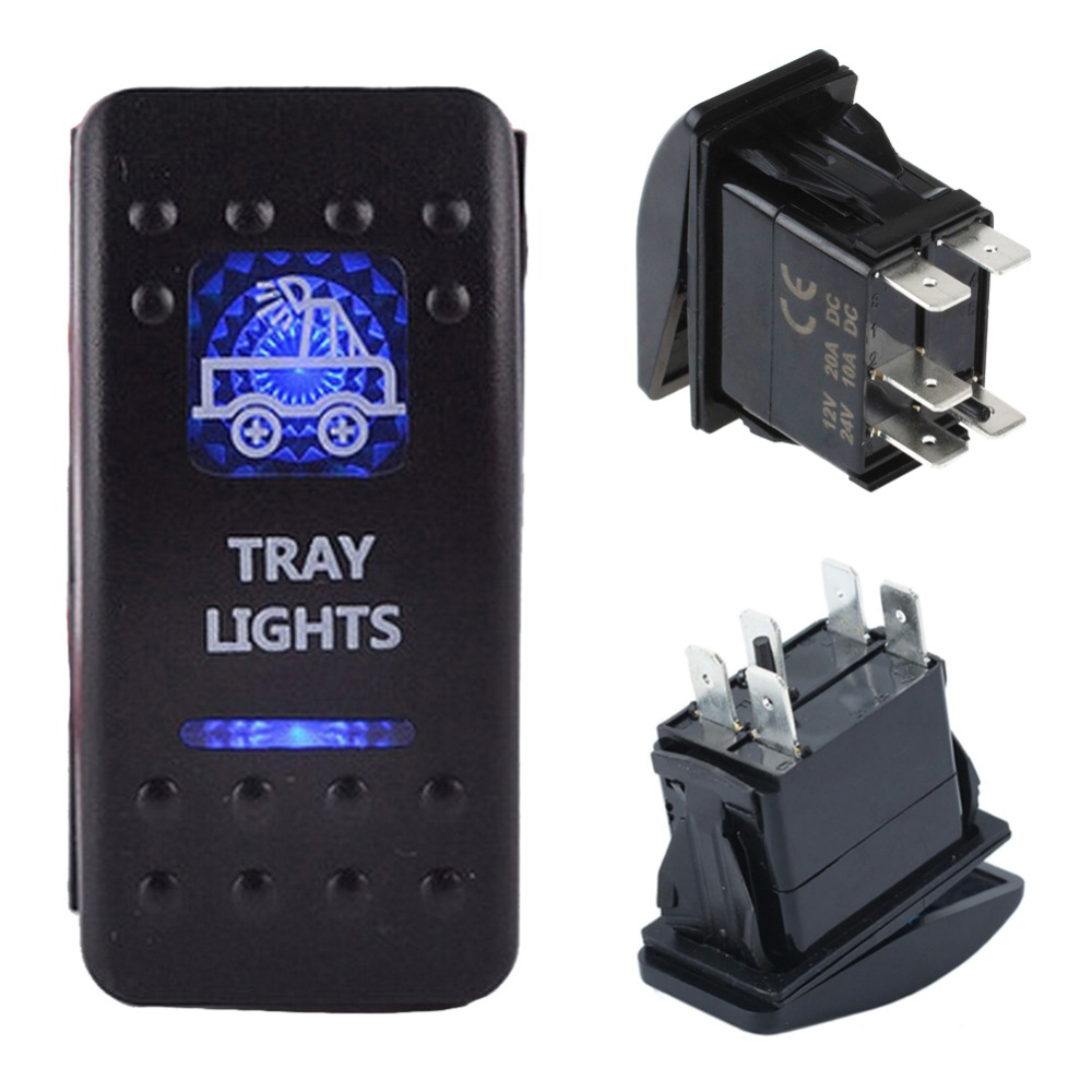 Mobil Baru 5 Pin Dual Dalam Biru Spot Light On Off Spst 12 V 20a 24 Kopi Bubuk Hitam Kapal Api Tanpa Gula 10x6 Gram 10a Bar Carling Gaya Beralih Rocker Kualitas Tinggi