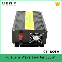 MKP500 122B CE ROHS Approved 12VDC To 220VAC 500w Power Inverter Pure Sinewave Inverter For Home