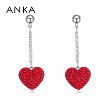 high quality fashion crystal heart shape earrings gift for girlfriend original with logo Crystals from Swarovski #116321(China)