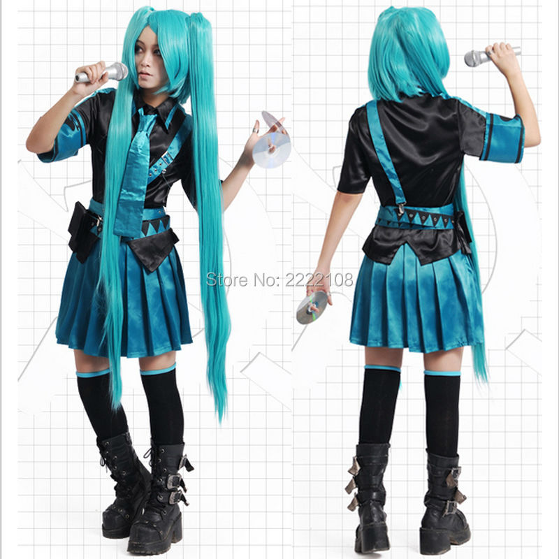Anime  VOCALOID V+Cosplay Hatsune Miku Love War/Love Philosophy Costume Women's Dress School Uniforms Sailor Suits Free Shipping