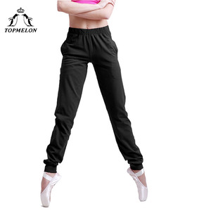 Image 3 - TOPMELON Ballet Dancing Pants for Women Black Soft Long Elastic Pants with Pocket Gymnastics Ballets Wear for Practice Shows